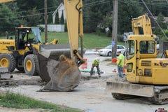 Road construction Royalty Free Stock Photos