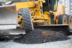 Road construction works Stock Image