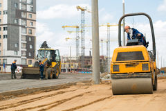 Road construction works Stock Photos