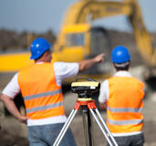 Road construction works Stock Images