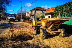 Road constructions Royalty Free Stock Photo