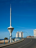 Bridge Control Tower in La Manga - Spain Royalty Free Stock Photo