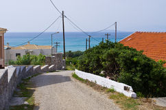 Road on Corfu island, Greece Royalty Free Stock Photography