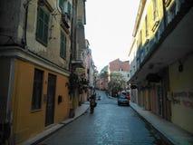 Road. In Corfu island Greece in winter Royalty Free Stock Image
