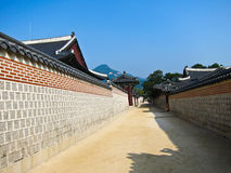 Road corridor. Preservation of the ancient village Royalty Free Stock Image