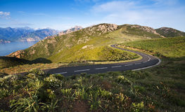 Road - Corsica Royalty Free Stock Photos