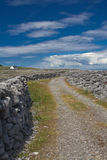 Road in the countryside. Road on Inisheer Island of Ireland royalty free stock image