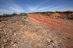 Road in the countryside of Brazil Caatinga Stock Photo