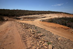 Road in the countryside of Brazil Caatinga Royalty Free Stock Photo
