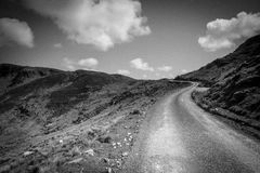 Road through countryside, Donegal, Ireland Royalty Free Stock Photos