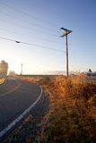 Road in the countryside. With the morning light Stock Photography