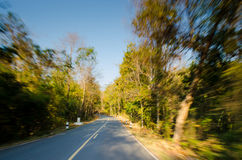 Road motion blur effect Royalty Free Stock Photo