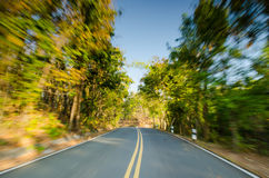 Road motion blur effect Royalty Free Stock Photos