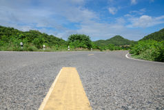 Road in countryside. Road with natural in countryside Thailand Royalty Free Stock Photos