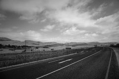 Road in SouthAfrica. Road Countryside Scenic road highway over rural hills countryside landscape Royalty Free Stock Photo