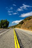 Road in the countryside of South Island, New Zealand stock photography
