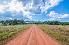 A road in the countryside Stock Images