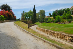 Road course golf. La quinta golf, set in the heart of Golf Valley, in Marbella, near Banus port in andalusian, spain stock photos