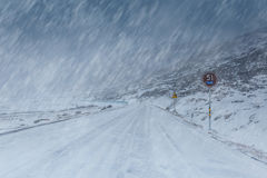 Road cover with snow Stock Image