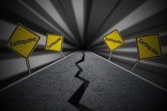 Road crack Earthquake Concept Royalty Free Stock Photography