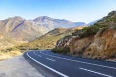 Road in Cretan mountains. Greece Royalty Free Stock Photos
