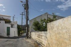 Road on Crete. Street in the village in Crete , Greece , Europe Stock Image