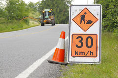 Road Crew Working Sign Royalty Free Stock Photos