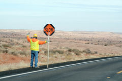 Road crews stock photography