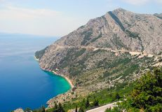 The road in Croatia. Royalty Free Stock Photography