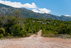 Road in Croatia Stock Photo