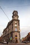 Road crossing called Five Corners in Saint-Petersburg Stock Photo