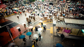 Road crossing at the famous busy street of Shibuya at Tokyo Royalty Free Stock Photo