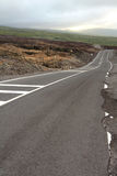 Road crossing a lava flow Royalty Free Stock Photos