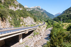 Road crossing the Spanish Pyrenees Stock Photo