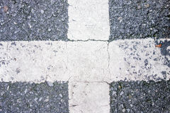 Road crossing texture Royalty Free Stock Photos