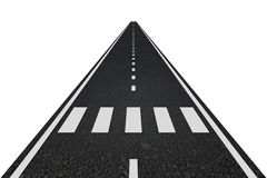 Road with crosswalk Royalty Free Stock Photography