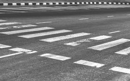 Road with crosswalk and pavement. Background Royalty Free Stock Image