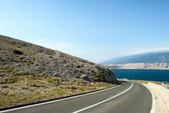 Road Curve. Coastal Road With Dangerous Curve Royalty Free Stock Images