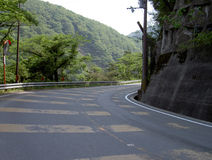 Road curve. A road curve in Japan on the Uji riverside Stock Photography