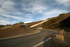 Road curve with barrier Stock Images