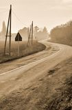 Road with curve Stock Photography
