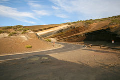 Road curve in desert Royalty Free Stock Photos