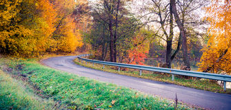 Road curve at fall Stock Photography