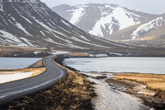 Road curve in Iceland. This is a photo of  road curve in Iceland Stock Image