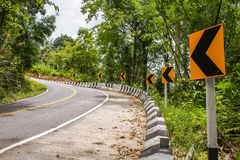 Road Curve Steep. Trafficsign KeepleftSigns Stock Photos