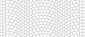 Road curved cobblestone texture 000 - ambient map. Cobblestone arched pavement road ambient texture with edge courses at the sidewalk. Seamless tileable Stock Photography