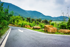 The road curved mountain Stock Photos