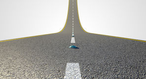 Road Curved Upward Royalty Free Stock Photo