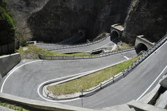 Road and curves. Road in San Boldo royalty free stock images