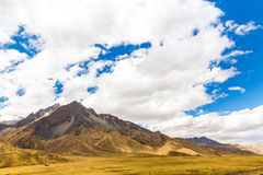 Road Cusco- Puno, Peru,South America. Sacred Valley of the Incas. Spectacular  nature of mountains Royalty Free Stock Photo